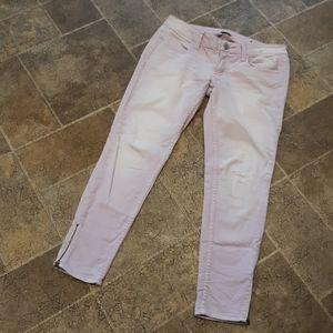 AEO women's size 6 purple fade zip bottom jeggings